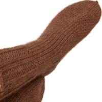 Носки Альпака кофейного цвета, ручная работа