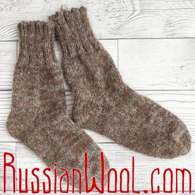 Носки Ruswool вязаные 100% шерсть: верблюжья, овечья и козий пух