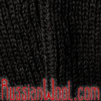 Наколенники из верблюжьей шерсти черного цвета, удлиненные