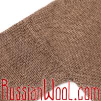 Свитер из 100% верблюжьей шерсти натуральный коричневый, XL,XXL