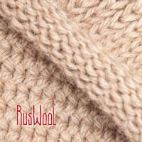 Свитер XL из 100% верблюжьей шерсти бежевый двойной вязки