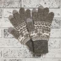 Перчатки Лоси сенсорные женские светло-серые
