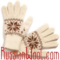 Комплект: вязаные перчатки и теплые подследники из овечьей шерсти