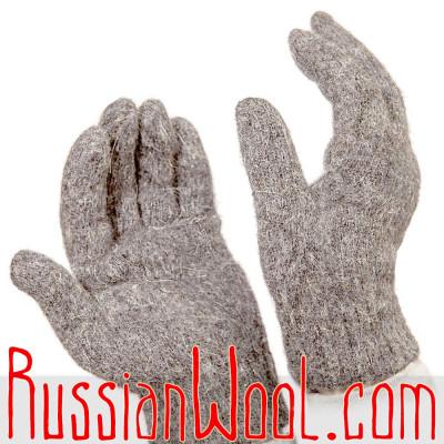 Перчатки мужские шерстяные Вечер, серые