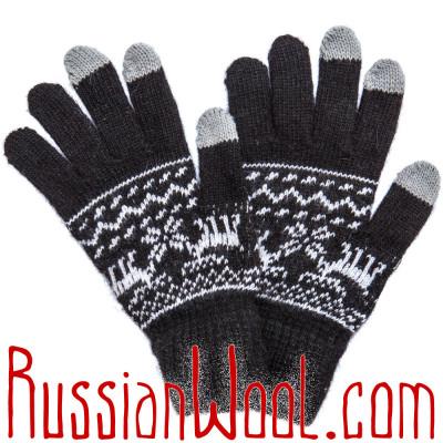 Перчатки Лоси сенсорные мужские черные