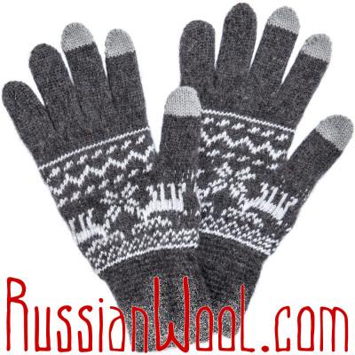Перчатки Лоси сенсорные мужские темно-серые