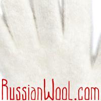Перчатки S пуховые женские белые