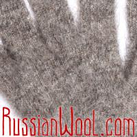 Перчатки пуховые женские серые