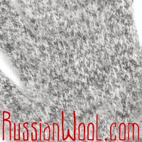 Комплект Коза Элеганс сталь: женские носки и перчатки из пуха