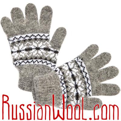 Перчатки Школьные шерстяные серые
