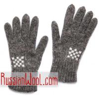 Мужские шерстяные перчатки