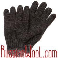 Перчатки из 100% верблюжьей шерсти, черные