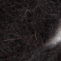 Варежки RusWool черные шерсть/мохер L мужские