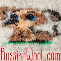 Варежки Собачка для самых маленьких, серые