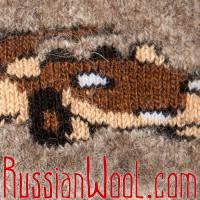 Варежки для малышей, коричневые