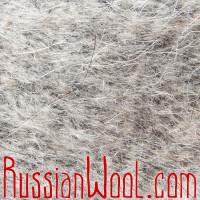 Варежки козьи пухово-шерстяные прямые серые