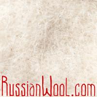 Варежки козьи пухово-шерстяные, белые