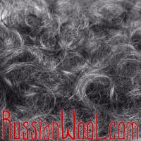 Кудрявые варежки из козьего пуха, серебристо-серые