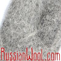 Варежки козьи пухово-шерстяные с манжетой серые