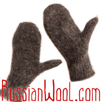 Комплект Суровая Коза: носки и варежки из козьей шерсти