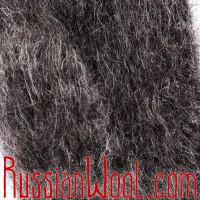 Варежки козьи пухово-шерстяные графитовые