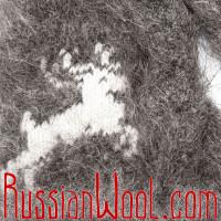 Варежки Олени пух темно-серые