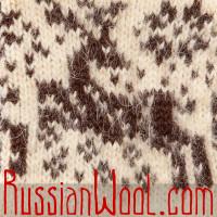 Женские шерстяные варежки