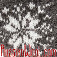 Варежки мужские, темно-серые со звездой