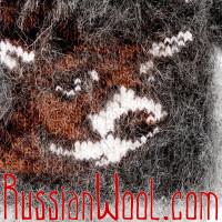 Варежки Олени пуховые черные, женские