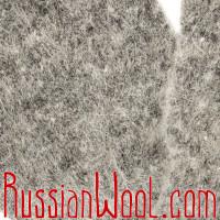 Варежки мужские шерстяные серые однотонные