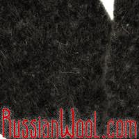 Варежки мужские шерстяные черные однотонные