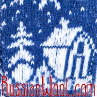 Варежки Зимний Домик шерстяные женские