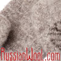 Варежки Иней с оленем коричневые