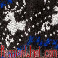 Перчатки мужские с оленями черные