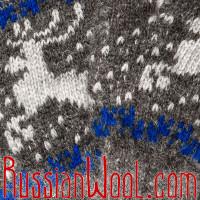 Перчатки мужские с оленями серые