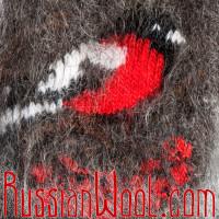 Варежки Снегири пуховые черные