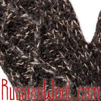 Варежки из верблюжьей шерсти черного цвета и козьего пуха