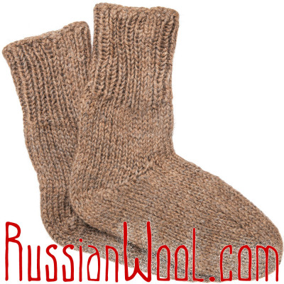 Носки из верблюжьей шерсти и козьего пуха натурального цвета