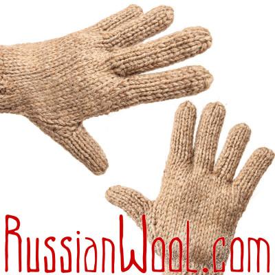 Перчатки из 100% верблюжьей шерсти, бежевые