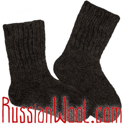 Носки из 100% верблюжьей шерсти чёрные