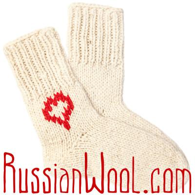 Носки Подарочные Сердце 100% шерсть