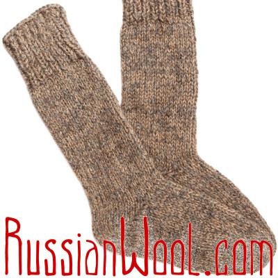 Носки высокие мужские/женские вязаные 100% шерсть: верблюжья, овечья и козий пух