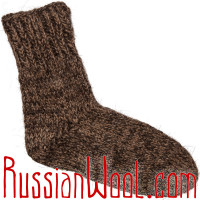 Носки мужские вязаные 100% шерсть: верблюжья, овечья и козий пух, тёмные