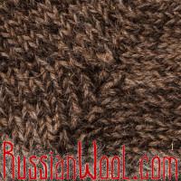 Носки RusWool высокие мужские/женские вязаные 100% шерсть: верблюжья, овечья и козий пух, тёмные