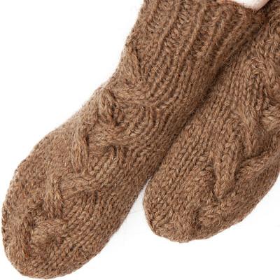 Носки с узором из 100% верблюжьей шерсти натуральные, M