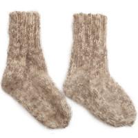 Носки Пушистики из овечьей шерсти и козьего пуха, женские