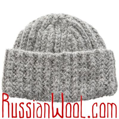 Вязаная шапка на заказ, 100% шерсть