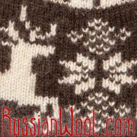 Шапка с оленями бело-коричневая, Монголия