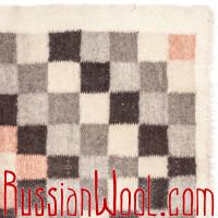 Покрывало гладкотканое #171118083112 с красными квадратами