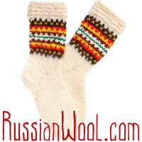 Носки Пастушьи Веселые шерстяные вязаные